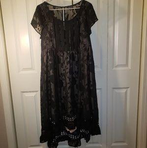 Torrid size 16 burnout illusion dress